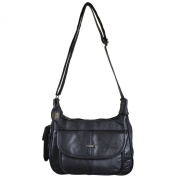 Ladies Leather Shoulder Bag / Handbag with Mobile Phone Pocket.