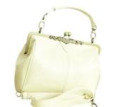 SAVFY Luxury Retro Vintage Women Ladies Shoulder Purse Handbag Kiss Lock Cross Body Totes Bag Satchel, PU Leather Fashionable Handle Shoulder Bag Retro Europe Style