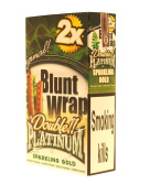 Blunt Wrap Double Platinum Sparkling Gold 5 Packets