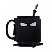 Novelty - Ceramic Black Ninja Mug - Even Silent Assassins Need A Tea Break - Thumbs Up!