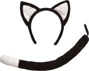 Child Fancy Dress Cat Set Black
