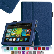 Fintie Fire HD 7 Tablet (2014 Oct Release) Case Slim Fit Leather Standing Protective Cover with Auto Sleep/Wake Feature (will only fit Fire HD 7 4th Generation 2014 model), Navy