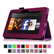 Fintie Kindle Fire HD 18cm (2012 Old Model) Slim Fit Leather Case with Auto Sleep/Wake Feature (will only fit Amazon Kindle Fire HD 7, Previous Generation - 2nd), Purple
