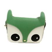 Fox Owl Retro Shoulder Messenger Bag Satchel Handbag,green