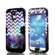 Galaxy S4 Case, Rosepark(TM)Chevron Galaxy with Anchor Pattern Hybrid High Impact Soft TPU + Hard PC Case Cover for Samsung Galaxy s4 i9500 (Black), With Screen Protector, Stylus Pen and Cleaning Cloth