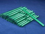 GREEN Glitter Hot Melt Glue Sticks - Pack of 50