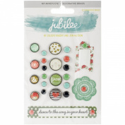 Jubilee Mint Julep Decorative Brads-Ride