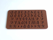 DIY Numbers and Letters Happy Birthday Silicone Gel Handmade Soap Mould Cake Moulds Silicone Chocolate Mould