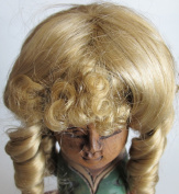 NARCO Craft DOLL HAIR WIG Style 393-313-06 has 6 LONG CURLS w CURLY BANGS Fits SIZE 20cm - 23cm Colour BLONDE Hair