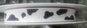 1cm Grosgrain COW Print Ribbon - 5 Yards