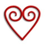 Heart Shaped Paper Clips Red