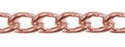 Antique Copper Metal Curbed Link Chain, 4.5 Links Per Inch, 7.6m