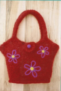 Flowers on the Go Felt Tote Fibre Trends Knitting Pattern AC-63x make 2 sizes