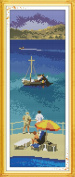 Benway Stamped Cross Stitch Aegean Sea 11CT 21x50cm
