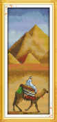 Benway Stamped Cross Stitch Pyramid And Camel 11CT 19X42CM
