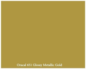 30cm x 3m Roll of Glossy Oracal 651 Metallic Gold Repositionable Adhesive-Backed Vinyl for Craft Cutters, Punches and Vinyl Sign Cutters by VinylXSticker