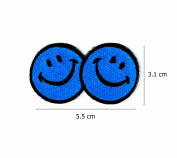 Smile Face Logo with Blue Colour.
