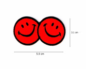 Smile Face Logo with Red Colour.