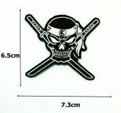 Ying Yang Japanese Ninja Samurai Sword Cross Ghost Skull Biker Rider Hippie Punk Rock Heavy Metal Tatoo Patch Sew Iron on Embroidered Sign Badge