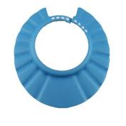 Adjustable Baby Kid Safe Shower Bath Shampoo Protect Soft Hat,Blue