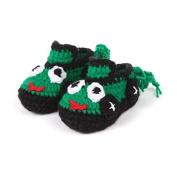 Dealzip Inc® Green Car-cute Unisex Newborn Baby Crochet Knitted Crib Soft Handmade Shoes Infant Pre Walker Toddler Socks