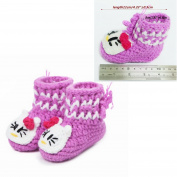 Dealzip Inc® Unisex Boy Girl Baby Newborn Infant Hand Knitting Crochet Beige Tassel Buckle Shoes Socks Boots
