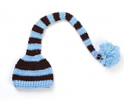 Dealzip Inc® Fashion Unisex Newborn Boy Girl Cute Colourful Stripes Crochet Knitted Photography Baby Hat with Long Braid