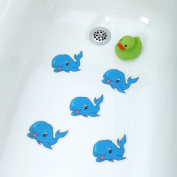 Bathtub Stickers Blue Whale - Safety Decals Treads Non Slip Anti-skid Shower Applique