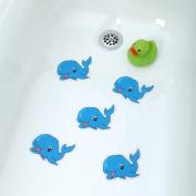 Bathtub Stickers Blue Whale - Safety Decals Treads Non Slip Anti-skid Shower Applique
