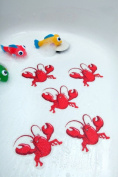 Bathtub Stickers Red Lobsters - Safety Decals Treads Non Slip Anti-skid Shower Applique