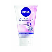 3X NIVEA EXTRA WHITE Pore Minimiser Foam Whitening 10x Facial Foam (for Oily skin) Net wt 100ml or 100 Gramme.