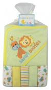 Cutie Pie Safari Buddies Bath Set - Hooded Towel & 5 Washcloths