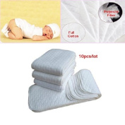 10pcs/lot Baby Nappies Washable Reusable Cloth Nappies 3 Layers Merries Baby Nappy Insert Super-absorbency