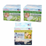NuAngel All-Natural Washable and Disposable Cotton Nursing Pad Set