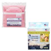 NuAngel Flip and Go Nursing Pad Case with All-Natural Washable Nursing Pad Set, Pink