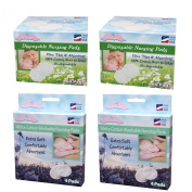 NuAngel All-Natural Washable and Disposable Cotton Nursing Pad Set, White