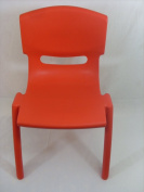 RED KIDS/CHILDREN HIGH QUALITY EASY STACKABLE PLASTIC CHAIR INDOOR OUTDOOR USE