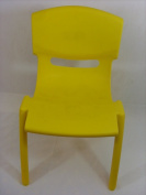KIDS/CHILDREN HIGH QUALITY EASY STACKABLE PLASTIC CHAIR INDOOR OUTDOOR USE YELLOW NEW