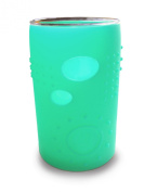 Silikids Siliskin Glass Cup with Silicone Sleeve, Sea, 24 Months, 2 Count