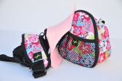 HIPNGO, PINK SEAT, FLOWER BAG, hip seat, toddler carrier, shoulder sling, side saddle, baby carrier, hipseat . Airport and amusement parks approved....The hipngo allows your child to sit naturally and comfortable and the easy-to-use design makes it per ..