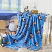 Super Soft Shiny Baby Blanket Kid Throw Warm Quality Big Size Monkey Blue