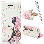 Vandot 3 in1 Accessory Set Phone Case Silicone Case for Apple iPhone 6 Plus (14cm ) 14cm PU Leather Smart Cover Leather Case Elegant 3D Girl Bling Shining lustre Crystal Diamond Rhinestone Pink Blue Yellow Pink Red White Orange coloured flower skirt ..