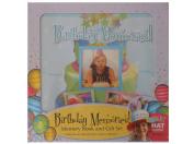 Spice Box Birthday Memories! Birthday Memory Book & Gift Set W/Party Hat New Nib
