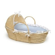 Gingham Hooded Moses Basket - Colour