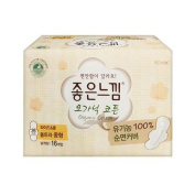 Goodfeel 100% Organic Cotton Ultra Wing Middle-size 16P [Korean Import]