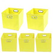 Modern Littles Sweets Organisation Bundle-5 Storage Bins, Yellow