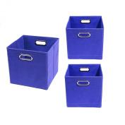 Modern Littles Organisation Bundle-3 Storage Bins, Bold Blue