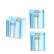 Modern Littles Organisation Bundle-3 Storage Bins, Sky Stripes