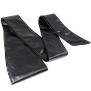 Click Down PU Leather Wrap Tie Corset Cinch Waist Belt Black