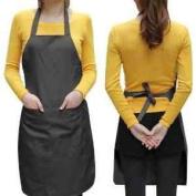 Click Down Unisex 2 Pocket Black Kitchen Apron Bib, One Size in Medium